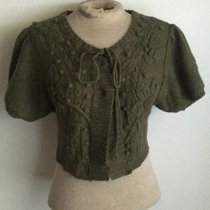 Sleeping on snow anthropologie wool forest top xs